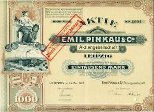 !! Emil Pinkau Ag Leipzig 1922 !!top Deko!! Warmes Lob Von Kunden Zu Gewinnen
