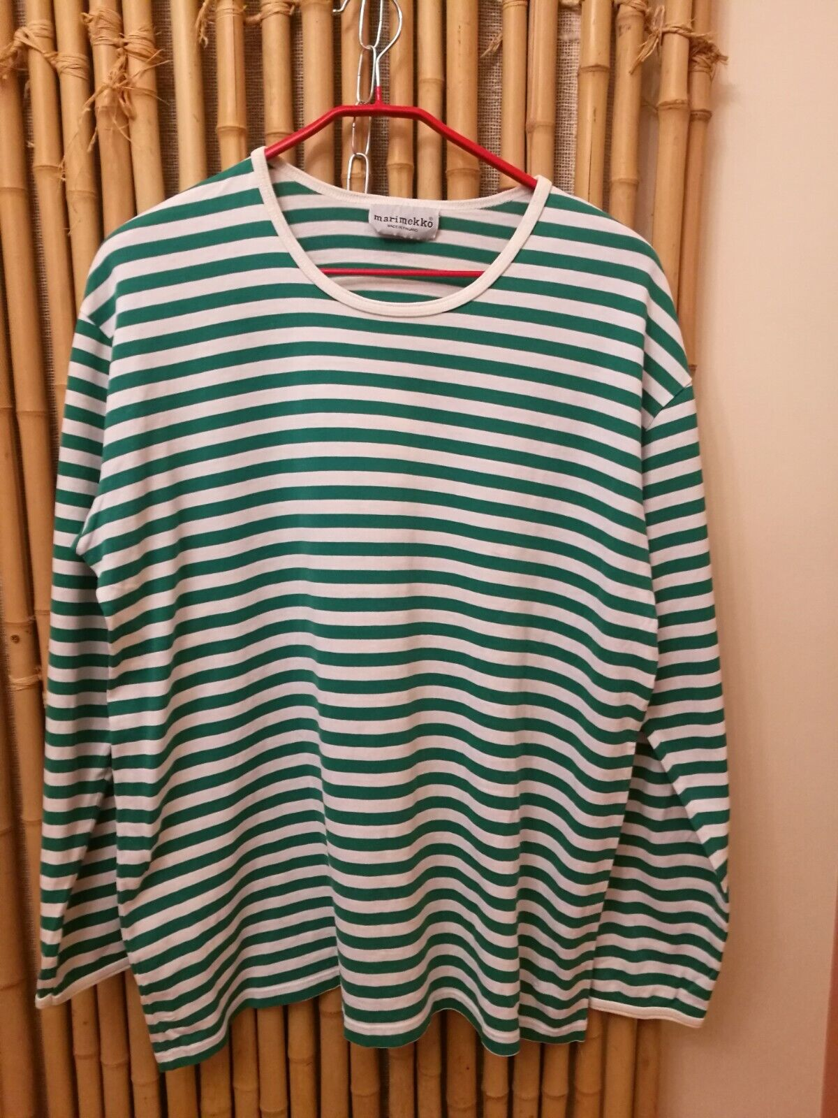 Women t-shirt Marimekko size XL 100% cotton made in Finland