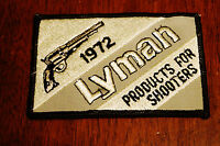 1972 Lyman Products For Shooters Patch