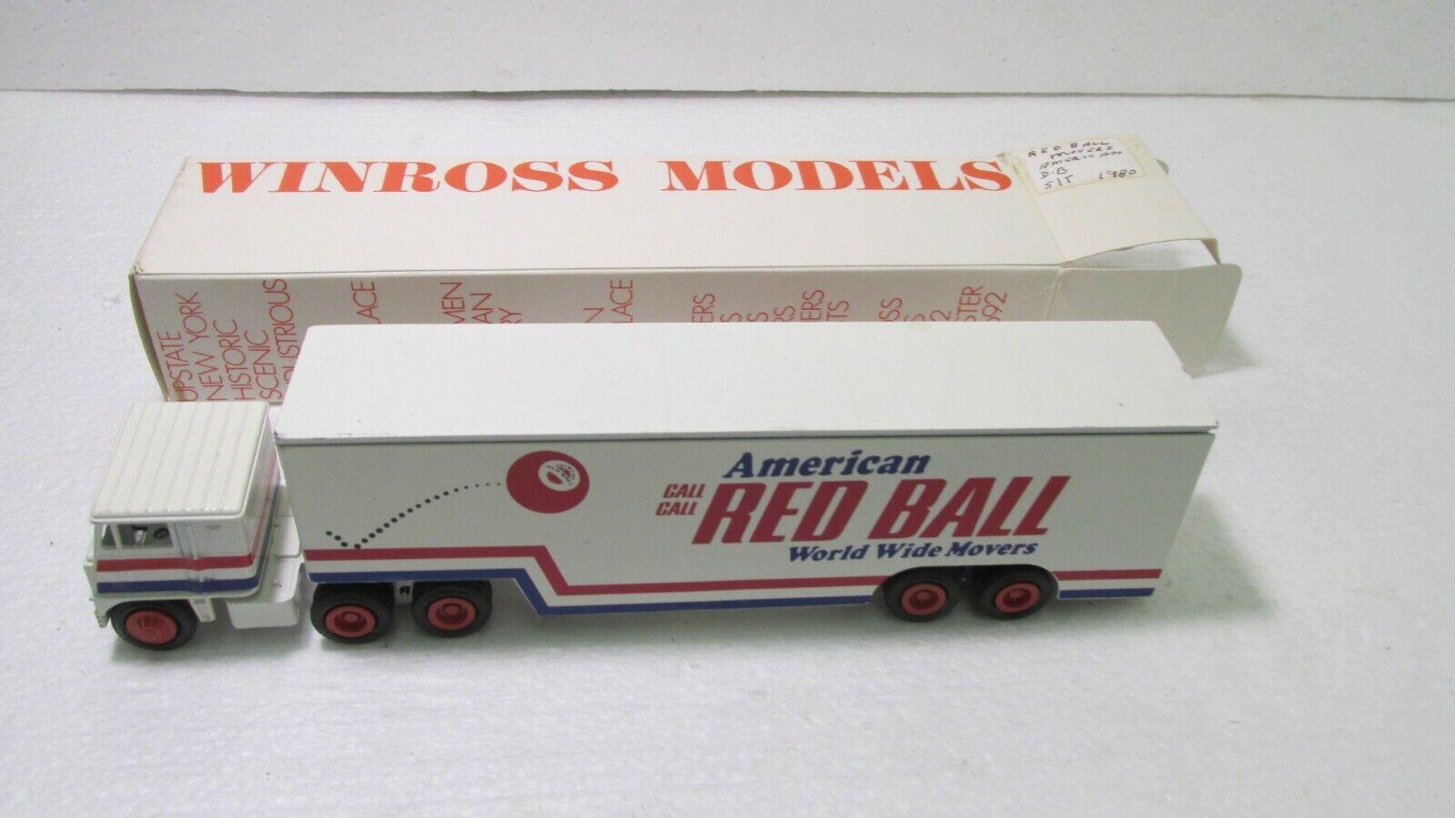 n ° 1 en línea Winross Modelos American rojo rojo rojo Ball Movers remolque de tractor 1980 Diecast dc2701  alta calidad y envío rápido