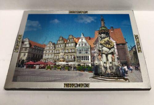 Magnet Bremer Roland glitzernd 3d-Effekt Bremen Marktplatz