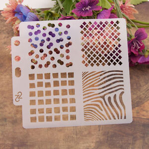 Reusable-Square-Stencil-Airbrush-Art-Diy-Home-Decor-Scrapbooking-Album-Craft-YK