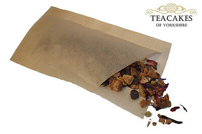 100 x 2-4 Cup Tea Coffee Herb Bags Empty Loose Tea pouch sack filters Sealable