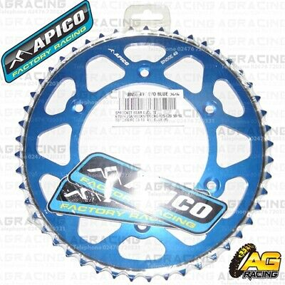 Alarm Apico Evolite Blue Rear Sprocket 49t 520 For Husqvarna Fc 350 2019 Up-To-Date Styling