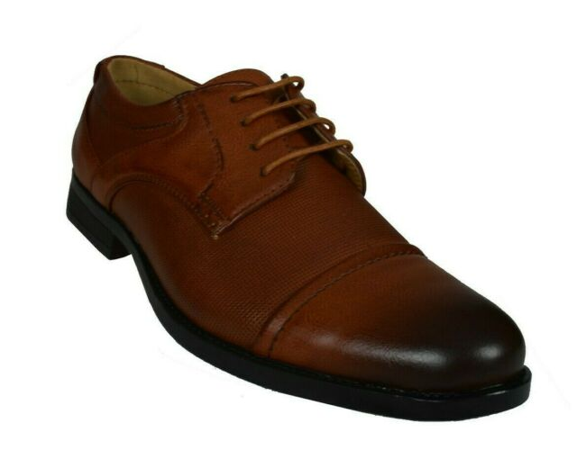Brown//Navy Blue Leather GIOVANNI HUNTER Men/'s Dress Shoes Wing Tip Oxford Ch