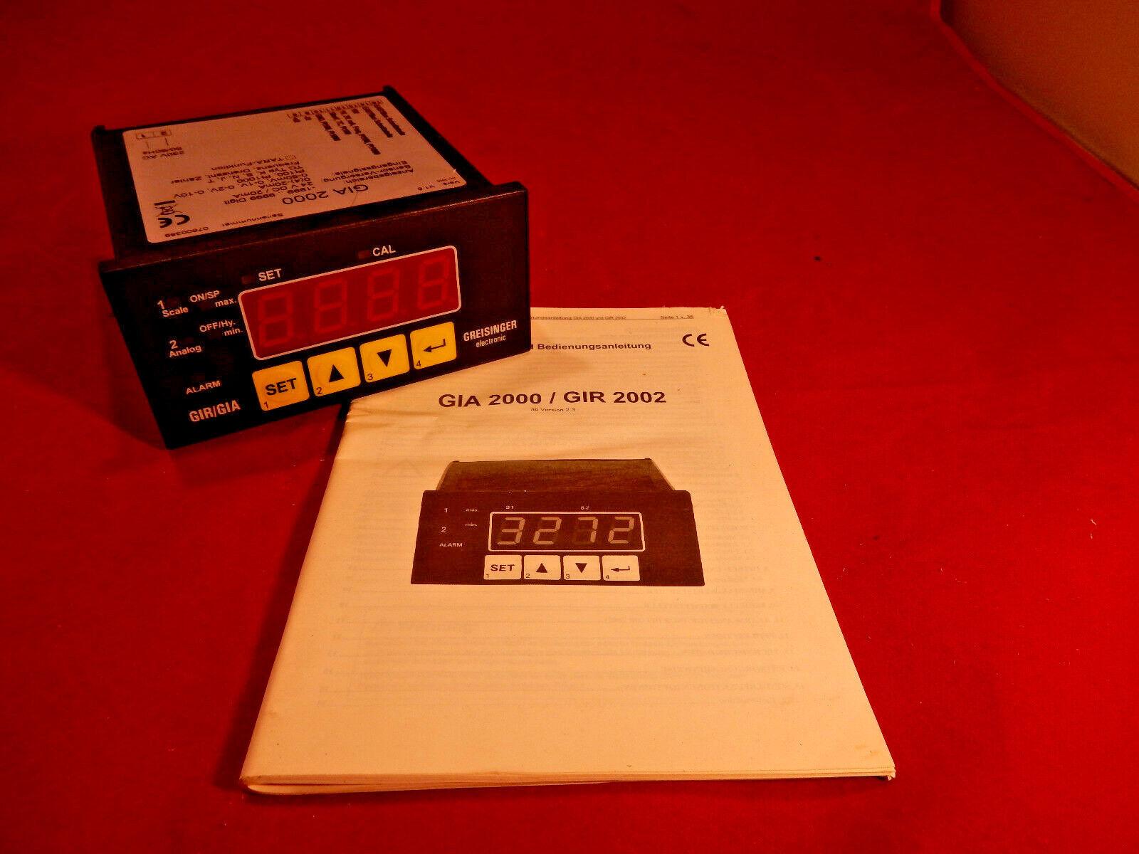 Greisinger Easybus GIA 2000 24 Volt Mess- und Anzeigegerät   86