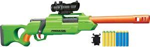 Air Warriors Bolt Action Sniper Predator Foam Dart Blaster Gun Nerf Buzz Bee Toy