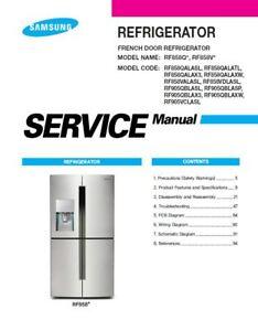 samsung rf858valasl rf858vdlasl service manual repair guide ebay rh ebay com Samsung French Door Refrigerator Problems Samsung RFG297HDRS Dimensions