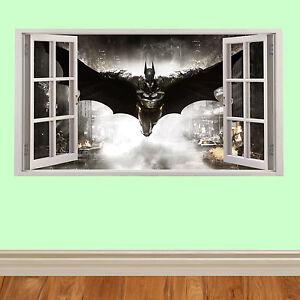 Batman-Volant-3D-fenetre-enfants-autocollant-mural-pour-chambre-a-coucher-cars