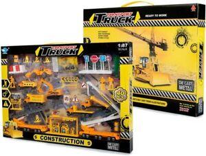 Big Daddy Full Construction Crew Mini Vehicle Trucks  Mega Toy Edition  40-piece