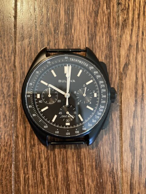Bulova 98A186 Lunar Pilot Chronograph Men's Watch - Black