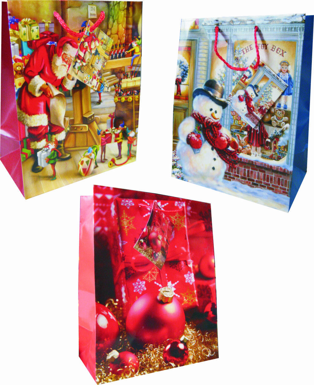 Geschenktüten 96 x Jumbo Weihnachtstüten Weihnachtsbeutel Geschenktaschen 7341