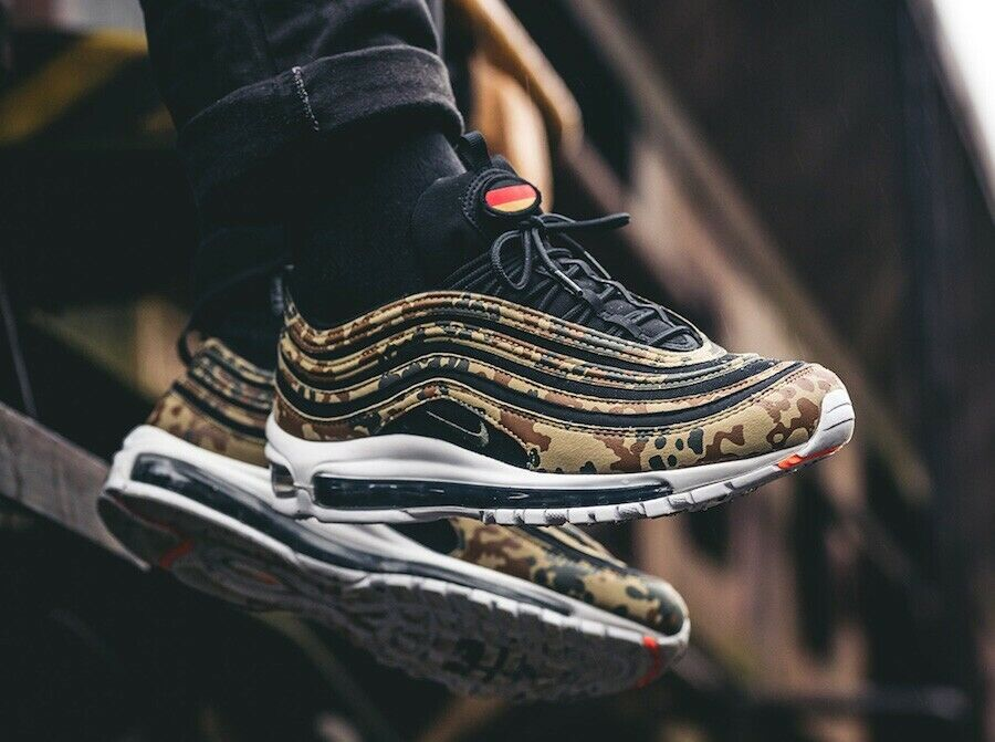 Nike air max 97 camouflage Camo Germany Premium 45 1 3 Uk10 Us11 Country Pack