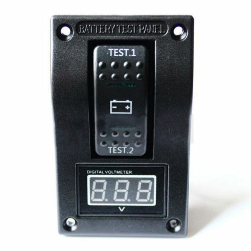 DUAL BATTERY SYSTEM MONITOR FLUSH MOUNT  BOAT MARINE VOLT GAUGE 12V 4X4 FRIDGE
