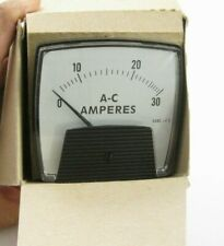 New Simpson 03170 Analog Ac Current Power Panel Meter 0a To 5a Ppd Shipping
