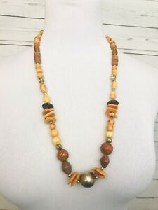 Vintage-Necklace-Beaded-Long-Chunky-Costume-Jewelry
