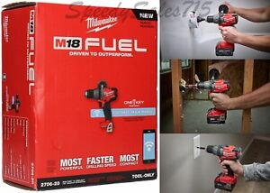 Milwaukee-2706-20-M18-FUEL-1-2-034-Hammer-Drill-Driver-With-034-ONE-KEY-034-Bare-Tool-New