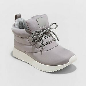 Women's Babs Fashion Ankle Boots - A New Day Gray 6