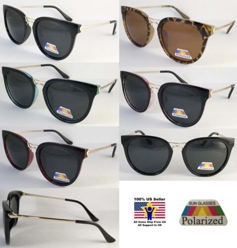 6 Pairs  Wholesale Polarized Sunglass Cat Eye Best Comfortable Unisex Anti Glare