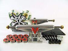 Venture 5.0 Hi Polished Skateboard Trucks + Bones 100s 52mm White Wheels