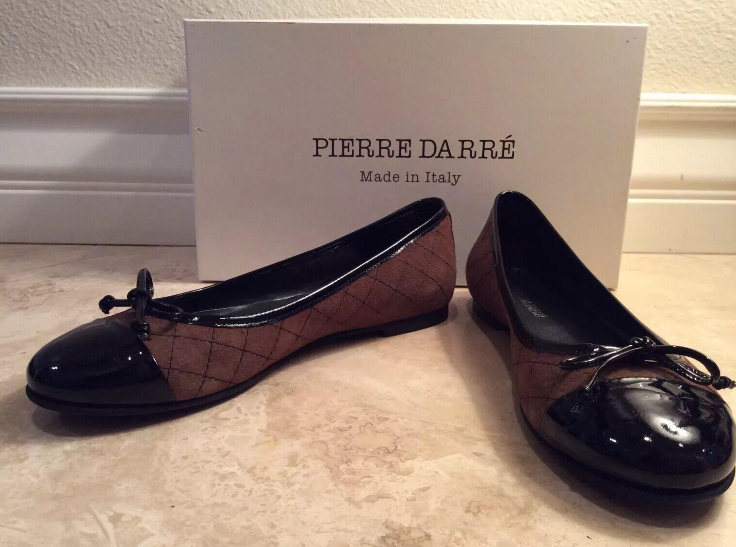 con il prezzo economico per ottenere la migliore marca PIERRE DARRÉ nero Patent Patent Patent Leather Marrone Quilted Suede Ballet Flats 39  NEW   articoli promozionali