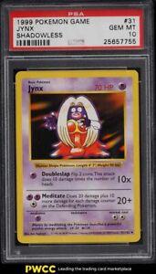 1999 Pokemon Base Set Shadowless Jynx #31 PSA 10 GEM MINT