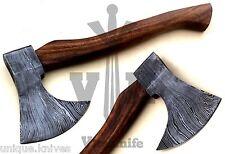 Damascus Axe Knife  Handmade Hatchet TomoHawk - 15.00 Inches  Rose Wood Handle