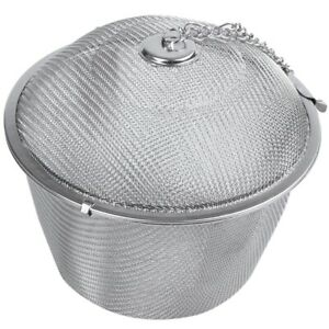 Extra-Large-Stainless-Steel-Twist-Lock-Mesh-Tea-Ball-Tea-Infuser-with-Hook-T8Q4