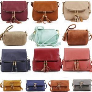 LeahWard Women s Cross Body Messenger Bag Tassel Faux Leather ... f5ab561e9b130