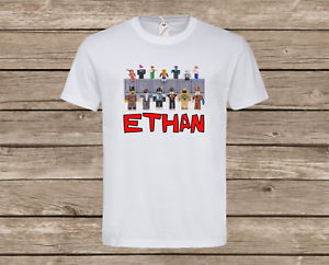 Personalised Kids Roblox T-Shirt Children's Gaming Tee Top Gift Present New