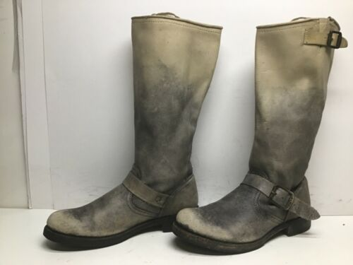 VTG WOMENS FRYE ENGINEER IVORY BOOTS SIZE 8.5 B