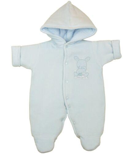 BabyPrem Babykleidung Schneeanzug Winteranzug Wagenanzug Nicki-Plüsch mit Kapuze