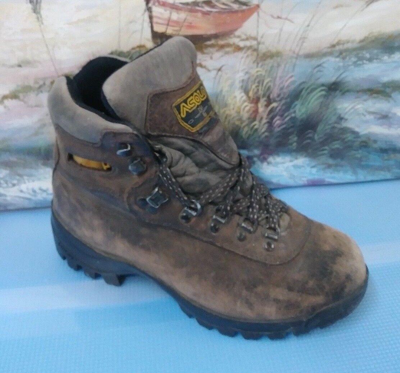 Asolo Damenss 8.5 vibram Braun suede hiking boots Summer feet