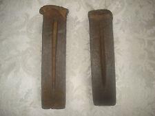 """2 Vintage Iron Log Splitter Wedge Wood Splitting Lumberjack Firewood Tools 8"""""""