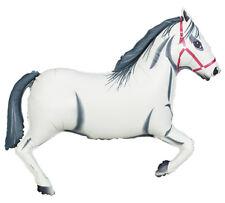 "43"" Rearing WHITE HORSE Western Farm Barnyard Birthday Party Balloon"