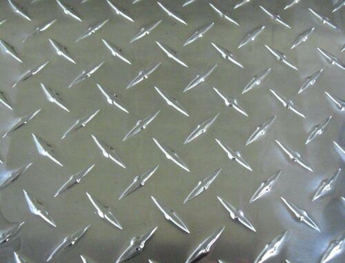 """60/"""" x 34 1//2/"""" Aluminum Diamond Deck Plate with Reinforced Beams"""