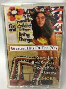 Greatest Hits 70s Cassette-Elton John-Rod Stewart-Grand Funk-BeachBoys-Al Green