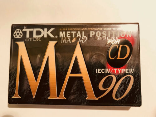 FREE Shipping TDK Sealed MA 90 Metal Audio Cassettes Type IV Made In Japan