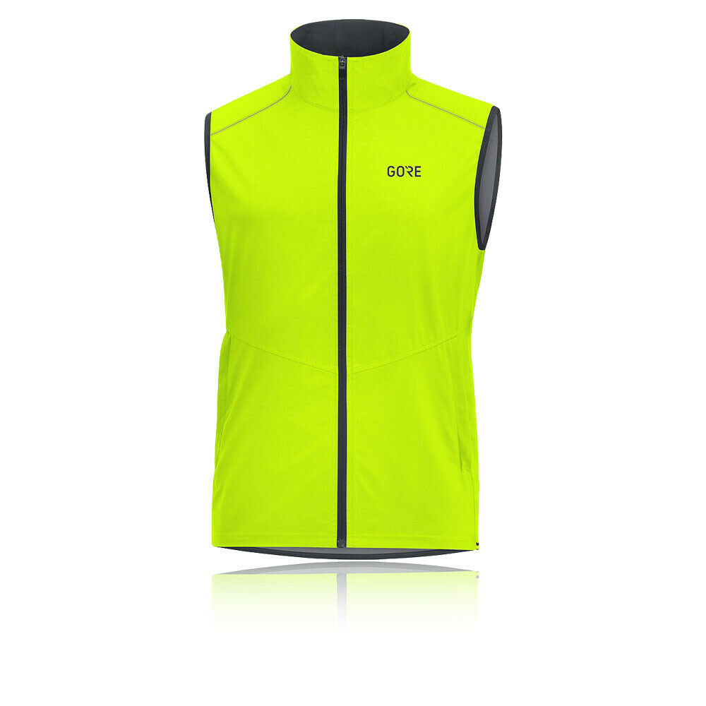 GORE R3 WINDSTOPPER XXLarge RUNNING GILET reflective elements NEON BNWT rrp