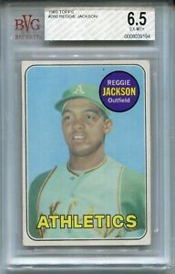 Details About 1969 Topps Baseball 260 Reggie Jackson Rookie Card Rc Bvg 65