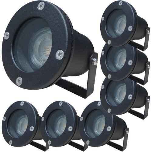 7Watt IP68 LED Boden EinbaustrahlerAufbaustrahler230VoltGartenleuchte