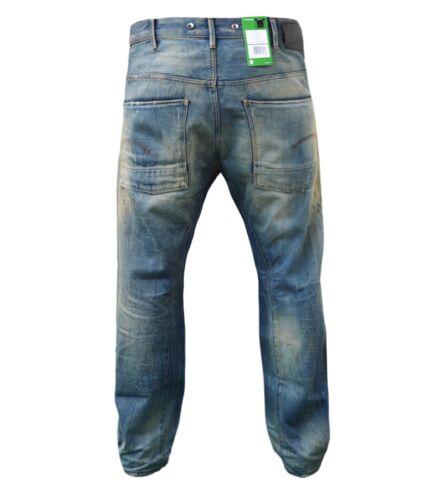 Pantaloni Jeans G-Star Stormer 3d loose LIGHT VINTAGE DESTROY dimensioni: 33//32 NUOVO