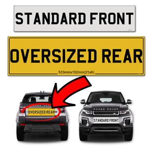 velar, Range Rover Oversized Rear & Standard Front Legal Number ...
