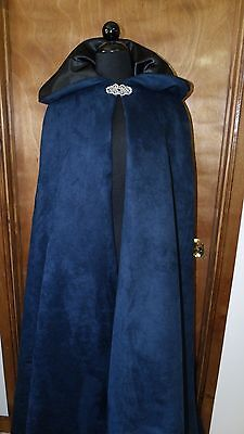 Renaissance Medieval Hooded Witch Wiccan Cloak Cape Pewter Clasp Handmade