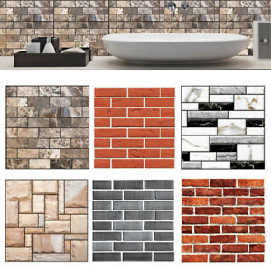Image Is Loading 3D Self Adhesive Tile Stickers Kitchen Home Art