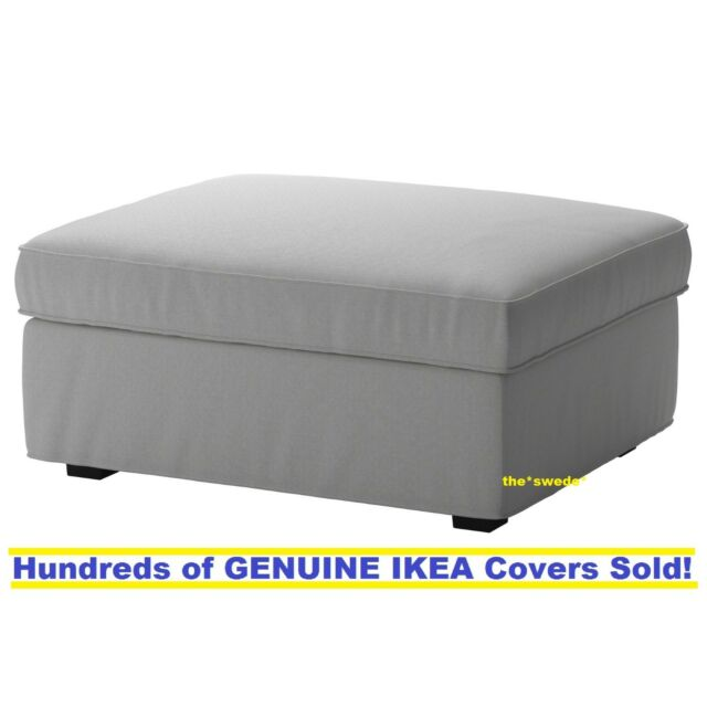 Beau IKEA KIVIK Footstool (Ottoman) Cover Slipcover ORRSTA LIGHT GRAY New SEALED!