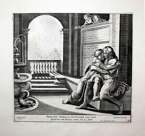 1674 Raphael Fanetti Vatican Bible Isaac Isaak Radierung etching Kupferstich