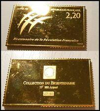 REVOLUTION COLLECTION BICENTENAIRE 1789 MÉDAILLE TIMBRE LOGO ARGENT