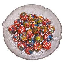 Tonperlen 30 Perlen orange türkis Basteln Malen Kreativität Spielzeug Schmuck