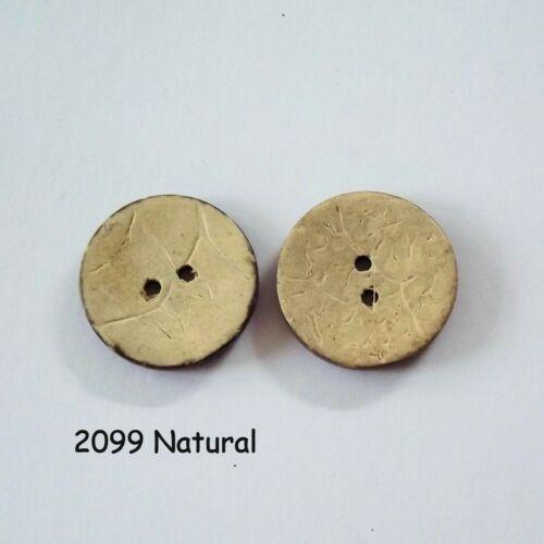 agujero de 2 Botones Los botones de coco naturales botones redondos 2b2099 botones de 24mm
